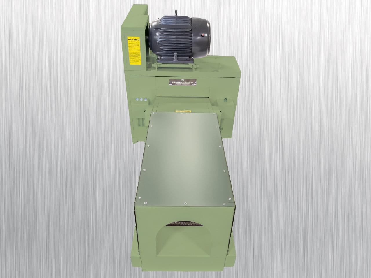 Tissue Log Shredder 20-OD   Front View   Industrial Shredders