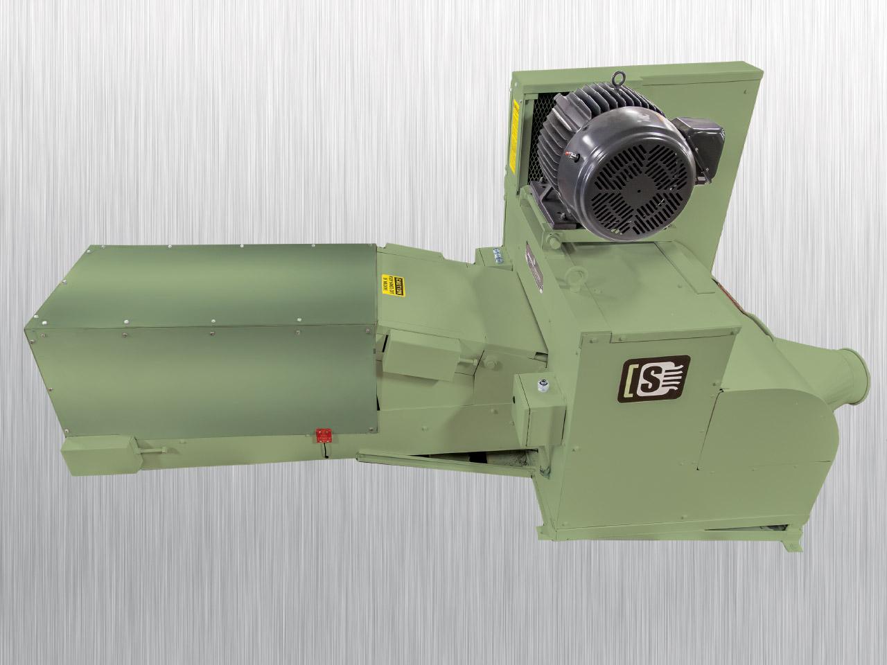 Tissue Log Shredder 20-OD   Side View   Industrial Shredders