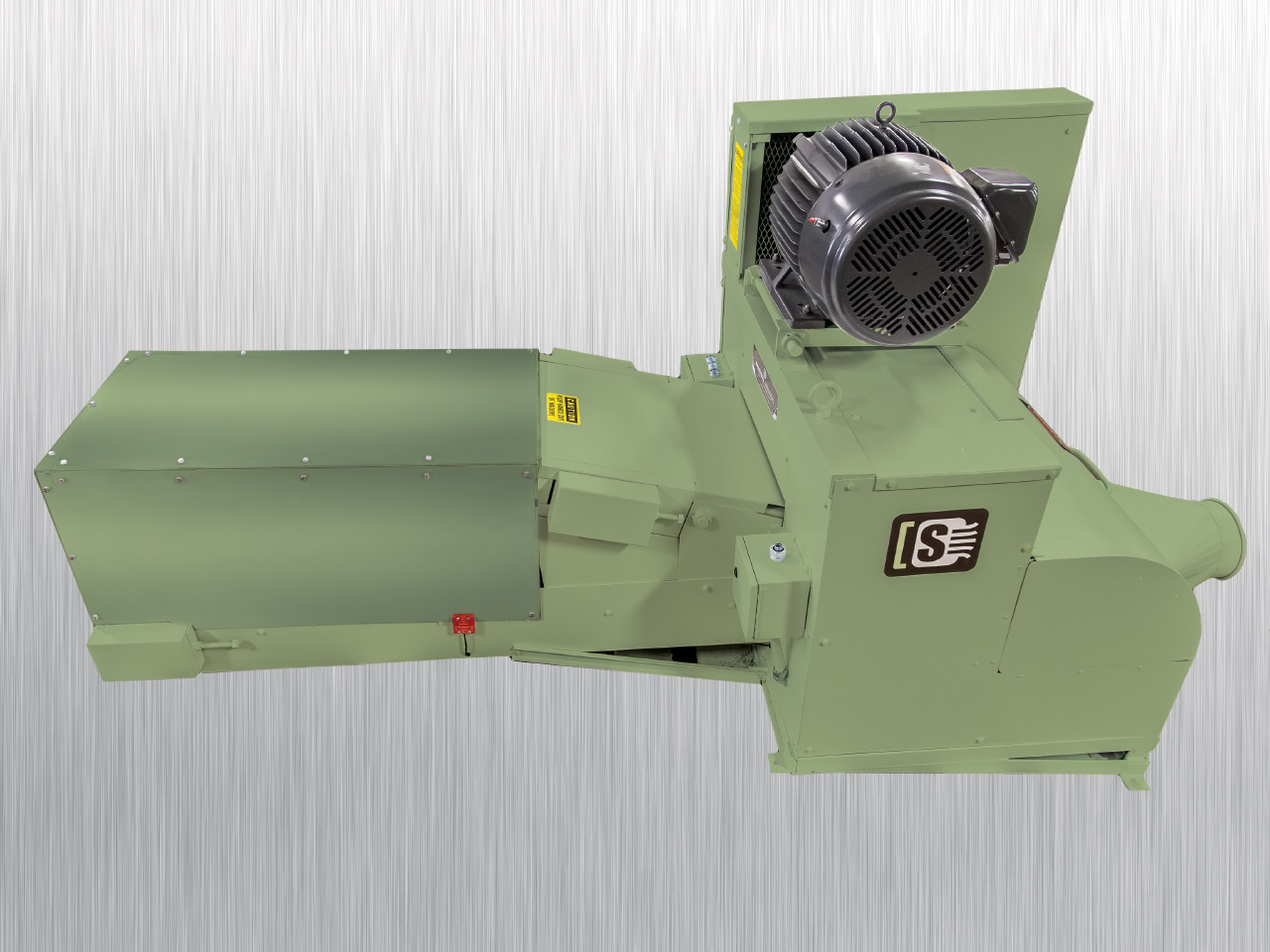 Tissue Log Shredder 20-OD | Side View | Industrial Shredders