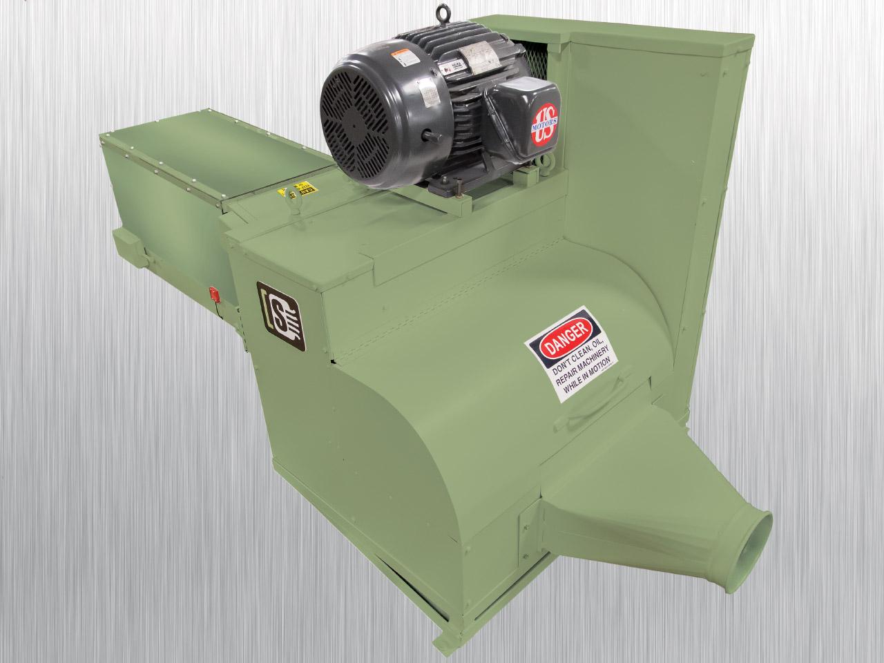 Tissue Log Shredder 20-OD | Back View | Industrial Shredders